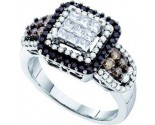 Black Diamond Fashion Ring 14K White Gold 1.00 ct. GD-53275