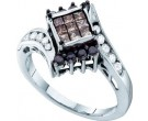 Ladies Diamond Fashion Ring 14K White Gold 0.75 cts. GD-53278