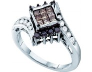 Ladies Diamond Fashion Ring 14K White Gold 0.75 cts. GD-53278 [GD-53278]