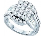 Ladies Diamond Fashion Ring 14K White Gold 2.04 cts. GD-53699