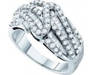 Ladies Diamond Fashion Band 14K White Gold 0.96 cts. GD-54190