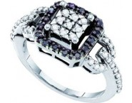 Ladies Diamond Fashion Ring 14K White Gold 0.50 cts. GD-54373