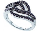 Ladies Diamond Fashion Ring 14K White Gold 0.95 cts. GD-54903