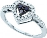 Diamond Heart Ring 14K White Gold 0.32 cts. GD-54910