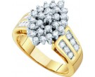 Diamond Cocktail Ring 10K Yellow Gold 1.00 ct GD-54966