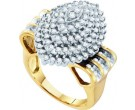 Diamond Cocktail Ring 10K Yellow Gold 1.25 cts. GD-54973