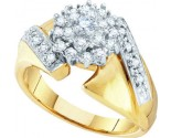 Diamond Cocktail Ring 10K Yellow Gold 0.50 cts GD-54981