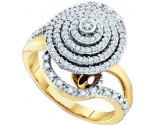 Diamond Cocktail Ring 10K Yellow Gold 0.50 cts. GD-54987