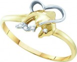Ladies Diamond Dolphin Ring 10K Yellow Gold 0.32 cts. GD-55433