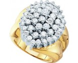 Diamond Cocktail Ring 10K Yellow Gold 3.00 ct. GD-55469