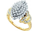 Diamond Cocktail Ring 10K Yellow Gold 0.50 cts. GD-55473