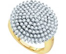 Diamond Cocktail Ring 10K Yellow Gold 2.00 cts. GD-55486