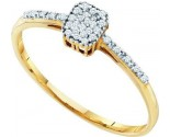 Diamond Cocktail Ring 10K Yellow Gold 0.07 cts. GD-55505