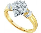 Diamond Cocktail Ring 10K Yellow Gold 0.04 cts. GD-55727