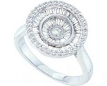 Ladies Diamond Fashion Ring 14K White Gold 0.80 cts. GD-55798