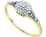 Diamond Cocktail Ring 10K Yellow Gold 0.11 cts. GD-55846