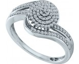 Ladies Diamond Fashion Ring 10K White Gold 0.30 cts. GD-55938