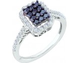 Ladies Diamond Fashion Ring 10K White Gold 0.50 cts. GD-57491