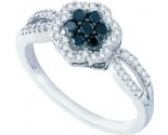 Ladies Diamond Flower Ring 10K White Gold 0.32 cts. GD-57494
