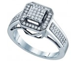 Ladies Diamond Fashion Ring 10K White Gold 0.25 cts. GD-57699