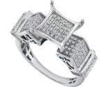 Ladies Diamond Fashion Ring 10K White Gold 0.38 cts. GD-57795