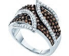 Ladies Diamond Fashion Band 10K White Gold 1.00 ct. GD-58273