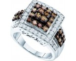 Brown Diamond Fashion Ring 10K White Gold 1.50 cts. GD-58478