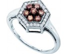 Ladies Diamond Fashion Ring 10K White Gold 0.50 cts. GD-58528