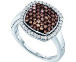 Ladies Diamond Fashion Ring 10K White Gold 0.95 cts. GD-58541