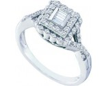 Ladies Diamond Fashion Ring 10K White Gold 0.25 cts. GD-58727