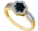 Ladies Diamond Flower Ring 10K Yellow Gold 0.32 cts. GD-58728