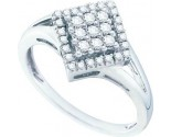 Ladies Diamond Fashion Ring 10K White Gold 0.25 cts. GD-58744