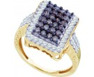 Ladies Diamond Fashion Ring 10K White Gold 1.00 ct. GD-58865