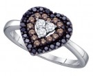 Ladies Diamond Heart Ring 14K White Gold 0.50 cts. GD-59134