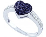 Ladies Diamond Heart Ring 10K White Gold 0.34 cts. GD-60155