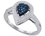 Ladies Diamond Fashion Ring 10K White Gold 0.25 cts. GD-60788