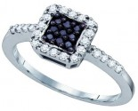 Ladies Diamond Fashion Ring 10K White Gold 0.38 cts. GD-61809
