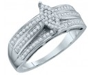 Ladies Diamond Fashion Ring 10K White Gold 0.25 cts. GD-63799