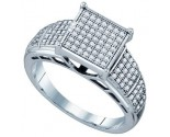 Ladies Diamond Fashion Ring 10K White Gold 0.25 cts. GD-63807