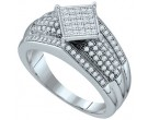 Ladies Diamond Fashion Ring 10K White Gold 0.25 cts. GD-63809