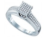 Ladies Diamond Fashion Ring 10K White Gold 0.25 cts. GD-63815