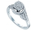 Ladies Diamond Fashion Ring 10K White Gold 0.25 cts. GD-64463