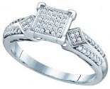 Ladies Diamond Fashion Ring 10K White Gold 0.20 cts. GD-64603