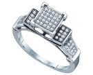 Ladies Diamond Fashion Ring 10K White Gold 0.20 cts. GD-64644
