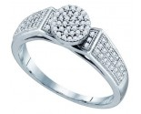 Ladies Diamond Fashion Ring 10K White Gold 0.25 cts. GD-64679