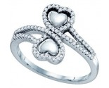Ladies Diamond Heart Ring 10K White Gold 0.25 cts. GD-64680