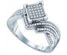 Ladies Diamond Fashion Ring 10K White Gold 0.33 cts. GD-64681