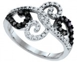 Ladies Diamond Fashion Ring 10K White Gold 0.33 cts. GD-64685