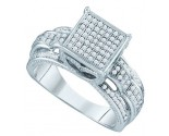 Ladies Diamond Fashion Ring 10K White Gold 0.40 cts. GD-64823