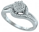 Ladies Diamond Fashion Ring 10K White Gold 0.25 cts. GD-64829